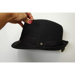 Stetson Men's Fedora Hat Wool NEW NWT Black